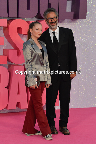 NON EXCLUSIVE PICTURE: MATRIXPICTURES.CO.UK<br /> PLEASE CREDIT ALL USES<br /> <br /> WORLD RIGHTS<br /> <br /> English comedian David Baddiel and daughter Dolly Loveday attend the world premiere of &quot;Bridget Jones's Baby&quot; at Leicester Square in London.<br /> <br /> SEPTEMBER 5th 2016<br /> <br /> REF: JWN 162864