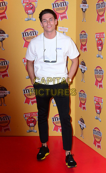 Celebrities attend as chocolate brand hosts party to celebrate a spoof election of its confectionary characters at M&amp;M's World, Leicester Square, London, 14th April 2015.<br /> CAP/JOR<br /> &copy;JOR/Capital Pictures