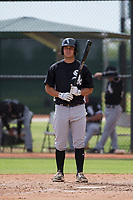 Justin Yurchak (65) of the Chicago White Sox at bat during an Instructional League game against the San Diego Padres on September 26, 2017 at Camelback Ranch in Glendale, Arizona. (Zachary Lucy/Four Seam Images)