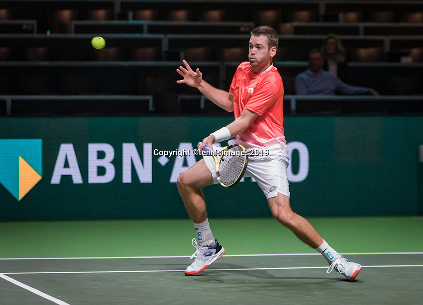 Rotterdam, The Netherlands, 11 Februari 2019, ABNAMRO World Tennis Tournament, Ahoy, first round doubles: Austin Krajicek (USA)<br /> Photo: www.tennisimages.com/Henk Koster