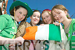 Proud to be Irish:Meghan Kissane, Caoimhe Dowling, Tara Downes and Charlotte Greaney at the Listowel St Patrick's Day Parade on Tuesday.