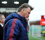Manchester United Manager Louis van Gaal walks off at half time<br /> - Barclays Premier League - Stoke City vs Manchester United - Britannia Stadium - Stoke on Trent - England - 26th December 2015 - Pic Robin Parker/Sportimage