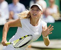 25-6-08, England, Wimbledon, Tennis, Caroline Wozniacki