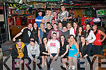 KEY OF THE DOOR: Anthony O'Connor, Ballyvelly, Tralee (seated centre) had a blast celebrating his 21st birthday party in the Huddle bar, Tralee last Saturday night surrounded by many friends and family.