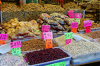 Dried Chinese foods outside a shop in Chinatown, Vancouver, British Columbia, Canada