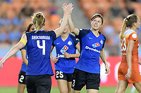 Houston, TX - Sunday August 13, 2017:  Becca Moros during a regular season National Women's Soccer League (NWSL) match between the Houston Dash and FC Kansas City at BBVA Compass Stadium.