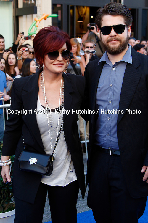 """LOS ANGELES - JAN 23:  Sharon Osbourne and Jack Osbourne arrives at the """"Gnomeo And Juliet"""" Premiere at El Capitan Theater on January 23, 2011 in Los Angeles, CA"""