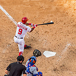 30 April 2017: Washington Nationals outfielder Rafael Bautista at bat in the 8th inning against the New York Mets at Nationals Park in Washington, DC. The Nationals defeated the Mets 23-5, with the Nationals setting several individual and team records, in the third game of their weekend series. Mandatory Credit: Ed Wolfstein Photo *** RAW (NEF) Image File Available ***