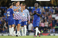 N'Golo Kante of Chelsea applauds the fans at the end of the match during Chelsea vs Lyon, International Champions Cup Football at Stamford Bridge on 7th August 2018