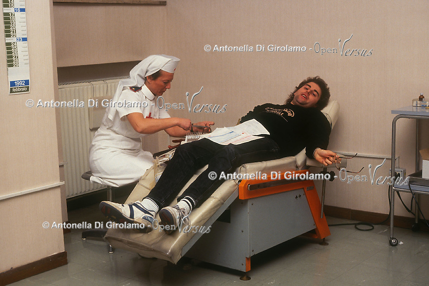 Centro donatori sangue della Croce Rossa Italiana. Blood donor center of the Italian Red Cross.Sala prelievi.....