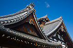 Kyoto City, Arashiyama District, Japan<br /> Arahaiyama Tenryuji temple, Main Hall roofline detail