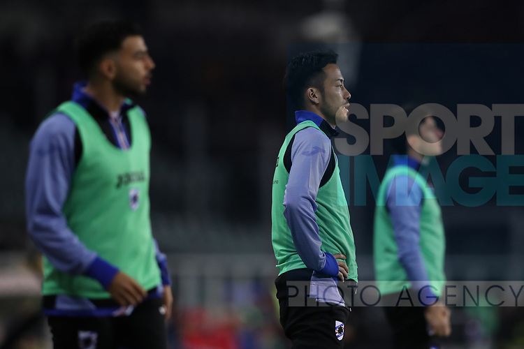 Maya Yoshida of Sampdoria looks on from the sidelines during the Serie A match at Stadio Grande Torino, Turin. Picture date: 8th February 2020. Picture credit should read: Jonathan Moscrop/Sportimage