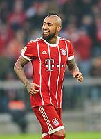 Arturo VIDAL, FCB 23  Halbfigur ,  , Einzel, Portrait, Portraet, Einzel   smiles, laechelt, lachend, smile, froh, happy ,celebration 4-2<br /> FC BAYERN MUENCHEN - TSG 1899 HOFFENHEIM  5-2<br /> Football 1. Bundesliga , Muenchen,27.01.2018, 20. match day,  2017/2018, <br />  *** Local Caption *** © pixathlon<br /> Contact: +49-40-22 63 02 60 , info@pixathlon.de<br /> Contact: +49-40-22 63 02 60 , info@pixathlon.de