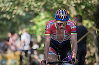 a sweaty Mathieu van der Poel (NED/Beobank-Corendon)<br /> <br /> Elite Men's Race<br /> CX Super Prestige Zonhoven 2017