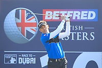 Raphael Jacquelin (FRA) on the 10th tee during Round 3 of the Betfred British Masters 2019 at Hillside Golf Club, Southport, Lancashire, England. 11/05/19<br /> <br /> Picture: Thos Caffrey / Golffile<br /> <br /> All photos usage must carry mandatory copyright credit (&copy; Golffile | Thos Caffrey)