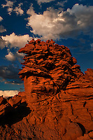 746000057 summer thunderstorm clouds form up over the hoodoos in fantasy canyon blm lands utah united states