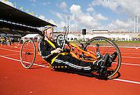 De Open Dag is hét evenement van het jaar voor de Johan Cruyff Foundation. Sportdag in het Olympisch stadion voor kinderen mét en zonder handicap. Oefenen met ee handbike/ ligfiets
