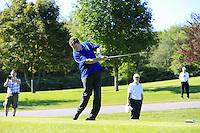 Darren Clarke (NIR) team during Wednesday's Pro-Am of the 2014 Irish Open held at Fota Island Resort, Cork, Ireland. 18th June 2014.<br /> Picture: Eoin Clarke www.golffile.ie