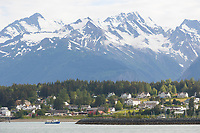 Coastal town of Haines, Alaska, at the end of the Lynn Canal, inside passage.