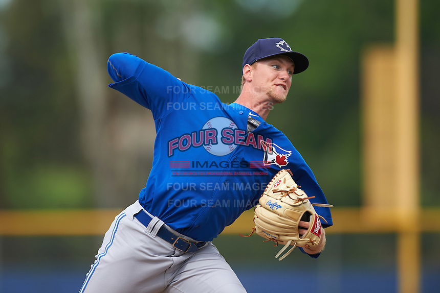Toronto Blue Jays Jonathan Harris (23) during a minor league Spring Training game against the Philadelphia Phillies on March 26, 2016 at Englebert Complex in Dunedin, Florida.  (Mike Janes/Four Seam Images)