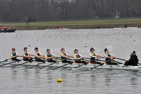 411 WindsorBoysSch J15A.8x+..Marlow Regatta Committee Thames Valley Trial Head. 1900m at Dorney Lake/Eton College Rowing Centre, Dorney, Buckinghamshire. Sunday 29 January 2012. Run over three divisions.