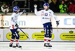Stockholm 2014-11-14 Bandy Elitserien Hammarby IF - Edsbyns IF :  <br /> Edsbyns Felix Pherson firar sitt 0-2 m&aring;l under matchen mellan Hammarby IF och Edsbyns IF <br /> (Foto: Kenta J&ouml;nsson) Nyckelord:  Elitserien Bandy Zinkensdamms IP Zinkensdamm Zinken Hammarby Bajen HIF HeIF Edsbyn EIF Byn jubel gl&auml;dje lycka glad happy