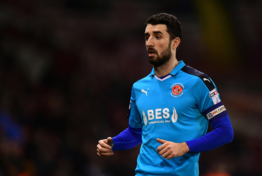 Fleetwood Town's Conor McLaughlin<br /> <br /> Photographer Chris Vaughan/CameraSport<br /> <br /> The EFL Sky Bet League One - Sheffield United v Fleetwood Town - Tuesday 24th January 2017 - Bramall Lane - Sheffield<br /> <br /> World Copyright &copy; 2017 CameraSport. All rights reserved. 43 Linden Ave. Countesthorpe. Leicester. England. LE8 5PG - Tel: +44 (0) 116 277 4147 - admin@camerasport.com - www.camerasport.com