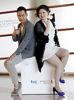 SAN SEBASTIAN, ESPANHA, 26 SETEMBRO 2012 - FESTIVAL DE CINEMA DE SAN SEBASTIAN - A diretora Emily Tang e o ator Chen Taishen durante divulgação do filme 'All Apologies', durante o 60º Festival de Cinema de San Sebastian, em San Sebastian, norte da Espanha, nesta quarta-feira, 26. (FOTO: ALFAQUI / BRAZIL PHOTO PRESS).