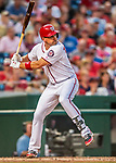 15 August 2017: Washington Nationals first baseman Ryan Zimmerman in action against the Los Angeles Angels at Nationals Park in Washington, DC. The Nationals defeated the Angels 3-1 in the first game of their 2-game series. Mandatory Credit: Ed Wolfstein Photo *** RAW (NEF) Image File Available ***