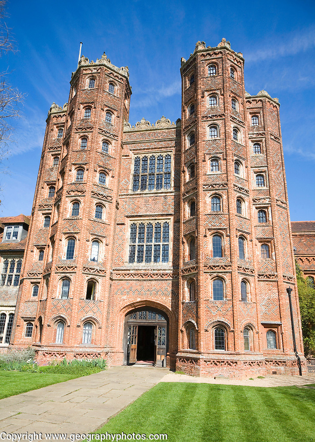 Layer Marney Tower the tallest Tudor gatehouse in England built 1520,  Layer Marney, Essex, England