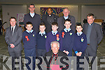 Tiernaboul NS pupils who made their Confirmation in the Church of the Ressurection Killarney on Wednesday Sean O'Sullivan, Lee Dowling, James Lynch, Kiaran O'Doherty and John O'Donoghue with their Principal Conor Gleeson with Bishop Bill Murphy, Fr Cieran O'Brien, Fr Moses Muraya, Fr Pat Horgan and  Fr Niall Howard..
