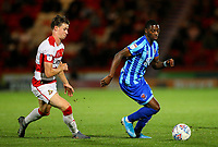 Blackpool's Sullay Kaikai gets away from Doncaster Rovers' Ben Sheaf<br /> <br /> Photographer Alex Dodd/CameraSport<br /> <br /> The EFL Sky Bet League One - Doncaster Rovers v Blackpool - Tuesday September 17th 2019 - Keepmoat Stadium - Doncaster<br /> <br /> World Copyright © 2019 CameraSport. All rights reserved. 43 Linden Ave. Countesthorpe. Leicester. England. LE8 5PG - Tel: +44 (0) 116 277 4147 - admin@camerasport.com - www.camerasport.com