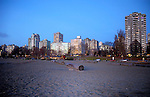 Apartments overlooking the beach, English bay,Vancouver, British Columbia,Canada