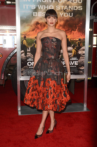 WESTWARD, CA - OCTOBER 8: Nina Dobrev at the Only The Brave World Premiere at the Village Theater in Westwood, California on October 8, 2017. Credit: David Edwards/MediaPunch