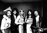 Journey 1979 Steve Smith, Gregg Rolie, Ross Valory, Steve Perry, Neal Schon.© Chris Walter.