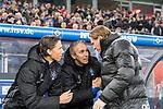 20.01.2018, Volksparkstadion, Hamburg, GER, 1.FBL, Hamburger SV vs 1. FC Koeln<br /> <br /> im Bild<br /> Frank Fr&ouml;hling / Froehling (Co-Trainer Hamburger SV), Frank Kaspar (Co-Trainer Hamburger SV), Markus Gisdol (Trainer Hamburger SV) zu Spielbeginn, <br /> <br /> Foto &copy; nordphoto / Ewert