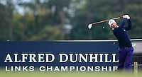 Mikko Ilonen of Finland tees off during the Final Round of the 2015 Alfred Dunhill Links Championship at the Old Course, St Andrews, in Fife, Scotland on 4/10/15.<br /> Picture: Richard Martin-Roberts | Golffile