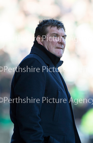St Johnstone v Celtic&hellip;04.11.17&hellip;  McDiarmid Park&hellip;  SPFL<br />Tommy Wright<br />Picture by Graeme Hart. <br />Copyright Perthshire Picture Agency<br />Tel: 01738 623350  Mobile: 07990 594431