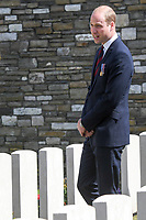 The Duke of Cambridge attends the Battle of Messines Commemorations at military cemetery - Belgium