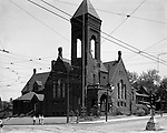 Homewood PA:  The exterior of the Point Breeze Presbyterian Church - 1947