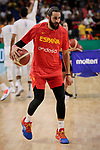 Ricky Rubio of Spain warms up before the Friendly match between Spain and Dominican Republic at WiZink Center in Madrid, Spain. August 22, 2019. (ALTERPHOTOS/A. Perez Meca)