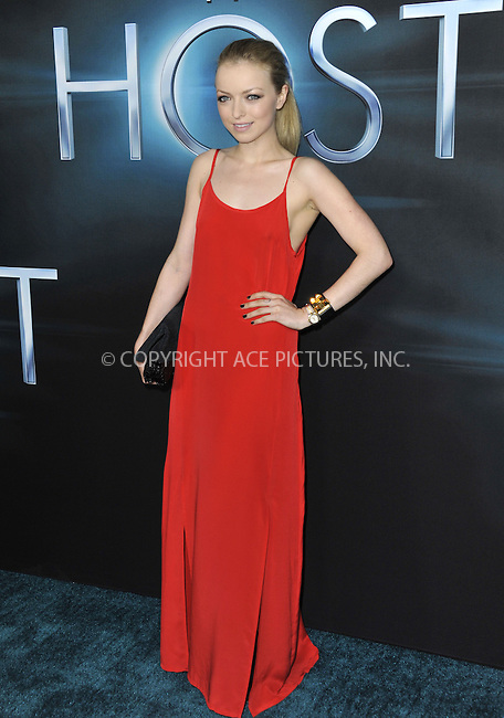 WWW.ACEPIXS.COM....March 19 2013, LA....Francesca Eastwood arriving at the 'The Host' Los Angeles premiere at the ArcLight Cinemas Cinerama Dome on March 19, 2013 in Hollywood, California. ....By Line: Peter West/ACE Pictures......ACE Pictures, Inc...tel: 646 769 0430..Email: info@acepixs.com..www.acepixs.com