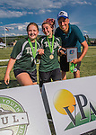 4 June 2016: Awards are presented to the winning teams, spirit award winners coaches awards, and all-state teams at the conclusion of the VYUL State Ultimate Disk Championships at Bombardier Park in Milton, Vermont. Mandatory Credit: Ed Wolfstein Photo *** RAW (NEF) Image File Available ***