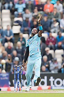 Jofra Archer (England) during England vs West Indies, ICC World Cup Cricket at the Hampshire Bowl on 14th June 2019