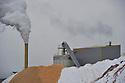 30/01/12 - ARLANC - PUY DE DOME - FRANCE - Entreprise SGA, Societe de granules d Arlanc, site de production de granules de bois - Photo Jerome CHABANNE
