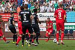 20.07.2019, Heinz Detmar Stadion, Lohne, Interwetten Cup 1. FC Köln vs SV Werder Bremen<br /> <br /> im Bild / picture shows <br /> <br /> Florian Kainz (Koeln #30)<br /> Simon Terodde (Koeln 09)<br /> Theodor Gebre Selassie (Werder Bremen #23)<br /> Ludwig Augustinsson (Werder Bremen #05)<br /> Foto © nordphoto / Kokenge