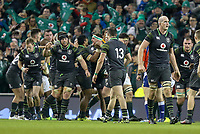 Saturday 11th November 2017; Ireland vs South Africa<br /> Rob Herring, Devin Toner, Sean O'Brien during the Guinness Autumn Series between Ireland and South Africa at the Aviva Stadium, Lansdowne Road, Dublin, Ireland.  Photo by DICKSONDIGITAL