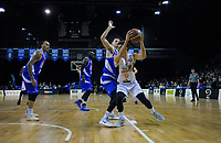 Hawks' Jarrod Kenny in action during the national basketball league match between Cigna Wellington Saints and Hawkes Bay Hawks at TSB Bank Arena in Wellington, New Zealand on Sunday, 27 May 2018. Photo: Dave Lintott / lintottphoto.co.nz