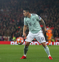 Bayern Munich's James Rodriguez<br /> <br /> Photographer Rich Linley/CameraSport<br /> <br /> UEFA Champions League Round of 16 First Leg - Liverpool and Bayern Munich - Tuesday 19th February 2019 - Anfield - Liverpool<br />  <br /> World Copyright © 2018 CameraSport. All rights reserved. 43 Linden Ave. Countesthorpe. Leicester. England. LE8 5PG - Tel: +44 (0) 116 277 4147 - admin@camerasport.com - www.camerasport.com