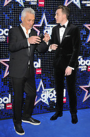 Martin Kemp and Roman Kemp at the Global Awards 2019, Hammersmith Apollo (Eventim Apollo), Queen Caroline Street, London, England, UK, on Thursday 07th March 2019.<br /> CAP/CAN<br /> &copy;CAN/Capital Pictures